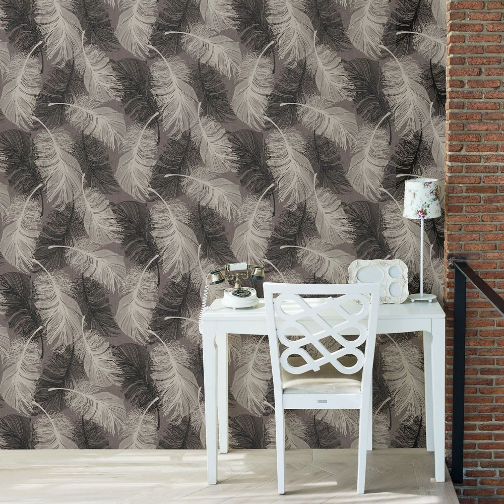 Crown Feather Chocolate M0962 Wallpaper
